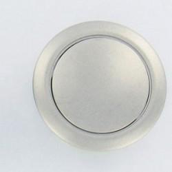 bouton + rosace pour push-lock bois 16mm marron