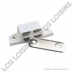Loqueteau magnetique blanc