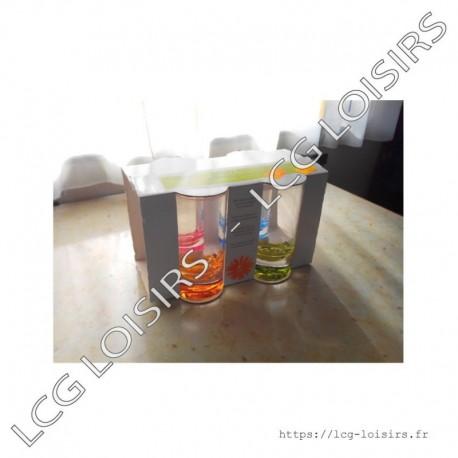 Lot 4 verres à eau colorés