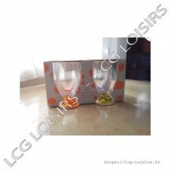 Lot 4 verres acryliques