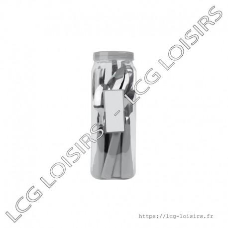 Boite de 24 couverts métals manches plastique