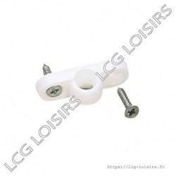 Pontet plastique pour armature d'auvent (x5)